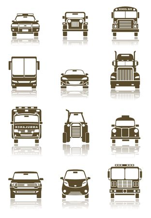 semi truck: Transportation icons