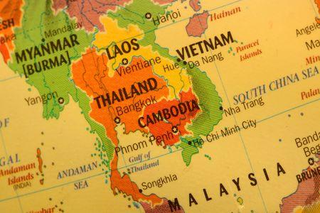 laos: Thailand map