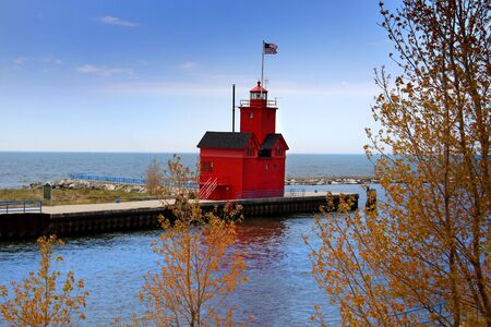 Holland Michigan light house Stock Photo - 6968932