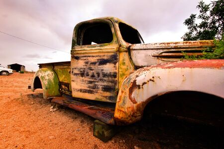 Old rustic truck photo