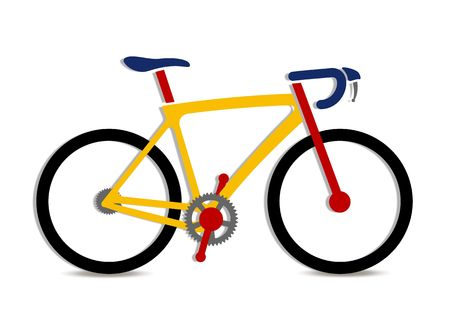 An illustration of colorful bike