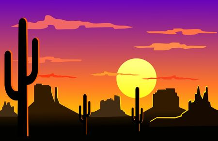 Arizona desert landscape  写真素材