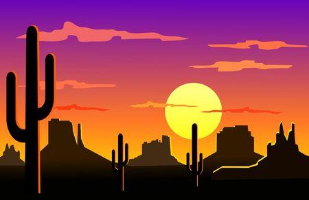 애리조나 사막 풍경