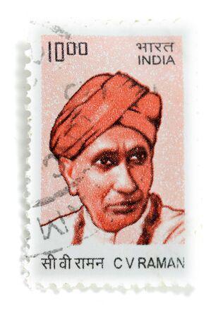 indian postal stamp: Sir CV Raman stamp