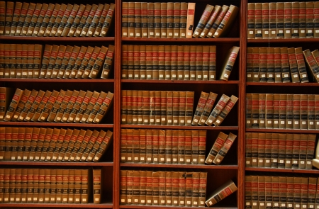 business law: Law book library Stock Photo