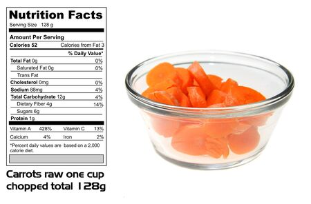 Nutritional facts of Carrots Stock Photo - 7230840