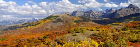 Dallas divide near San Juan mountains Stock Photo