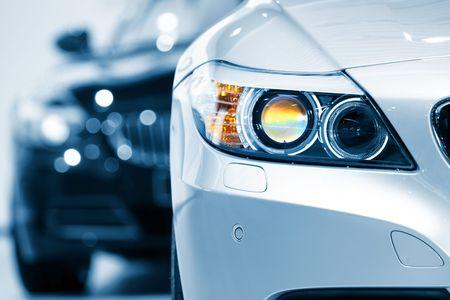 luxe: Fermer grenaille de lampe si�ge de voiture dans ton de couleur bleue