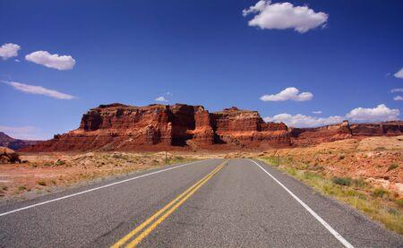 drive through: Drive through Glen Canyon Stock Photo