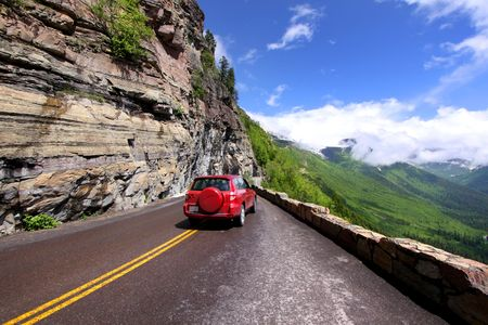 rocky road: Going to the sun road