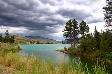 風光明媚な田園風景 写真素材