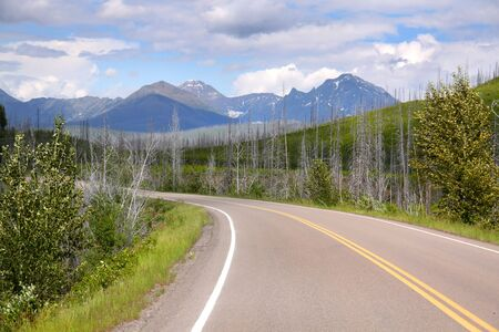 Scenic drive in Rocky mountains photo