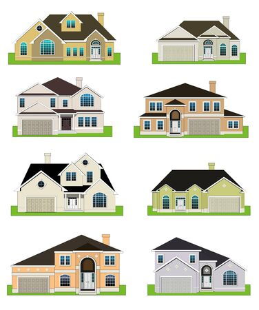 website buttons: Colorful homes Stock Photo