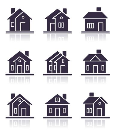 Different home icons Stock Photo
