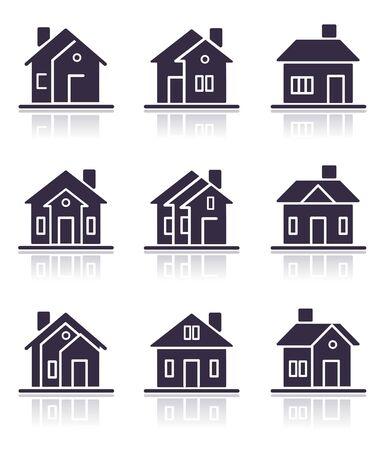 Verschiedene home Symbole Standard-Bild - 7652764
