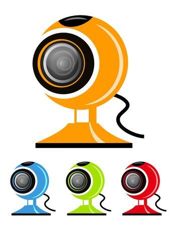 illustration of different colored webcam designs illustration