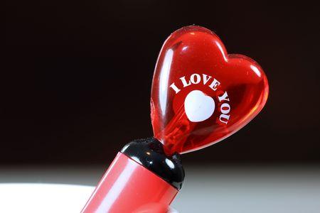Glassy hart met I Love You Opmerking