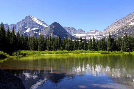 glacier national park: Swift current lake Stock Photo