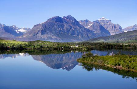 ecosistema: Parque Nacional de glaciar  Foto de archivo