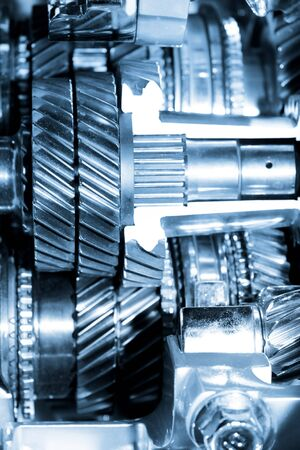 complication: Close up shot of automotive engine components Stock Photo