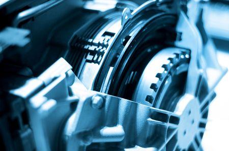mecanico automotriz: Close up disparo de componentes de motor de autom�vil