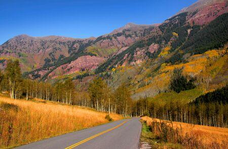 Scenic mountain drive near Aspen Colorado photo