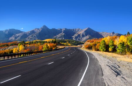 rocky road: Scenic drive San Juan mountains