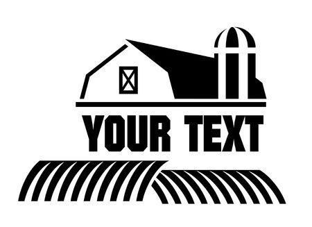 icon: Barn and farm icon Stock Photo