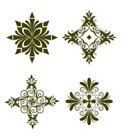 Unique design elements Foto de archivo