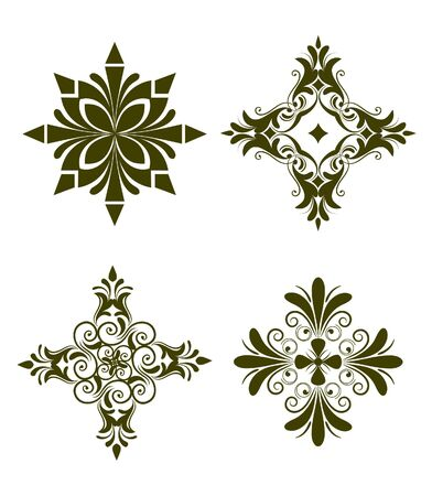 graphic illustration: Unique design elements Stock Photo