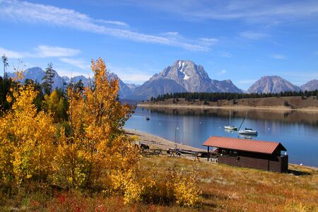 Grand tetons national park in autumn Stock Photo - 7940165
