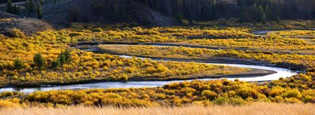 Panoramic view of Snake River photo