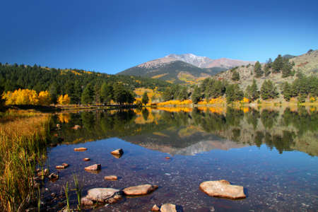 OHaver lake in middle of Rocky mountains in Colorado photo