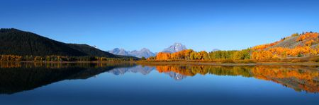 panoramic nature: Grand Tetons national park