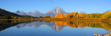Grand Tetons panorama Stock Photo - 8122613