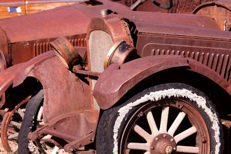 Abandoned rustic cars some where in Wyoming Stock Photo - 8157517