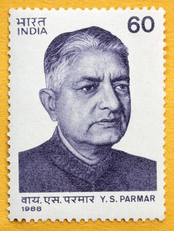 indian postal stamp: India -Circa 1988 , Dr. Y.S. Parmar As an architect of modern Himachal Pradesh,India