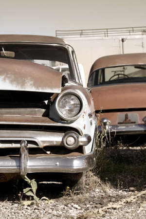 Rustic abandoned cars Wyoming in sepia color Stock Photo - 8485089