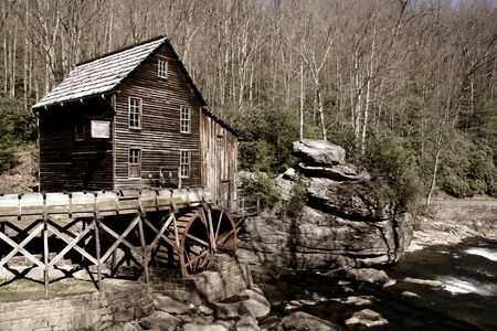 Grist glade creek mill in West Virginia state photo