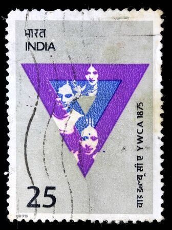 philately: INDIA - CIRCA 1975: A stamp printed in India (present time India) shows YWCA, circa 1975