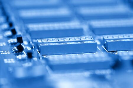 Close up shot of IC's on electronic circuit board Stock Photo - 8484966