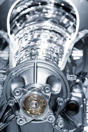 cam gear: Close up shot of new Automobile engine  Stock Photo