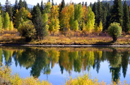Scenic landscape of Grand tetons national park  photo