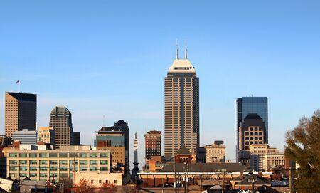 High rise buildings in downtown Indianapolis USA