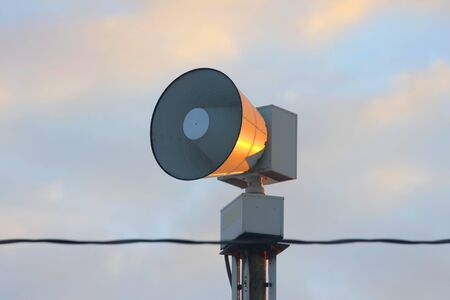 Mega loud speaker on pole in the street Stock Photo - 8667309