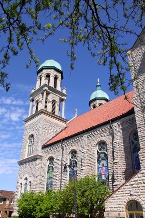 Historic church architecture in Grand rapids Michigan