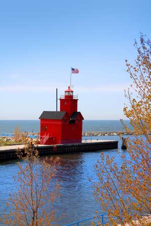 lake michigan: Holland Michigan light house