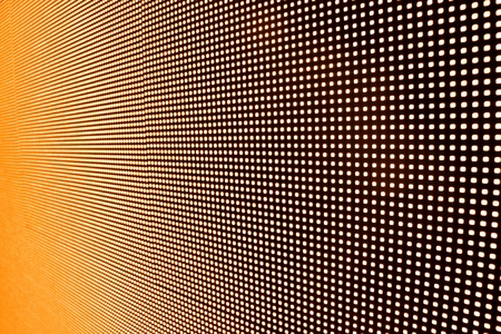 Perspective view of LED wall  in orange color