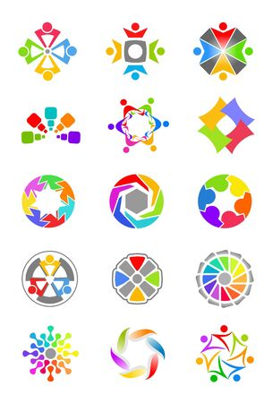 design elements: Colorful design elements Stock Photo