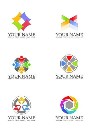 artistic logo: Design elements for logo